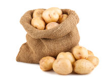 Patatas en saco Foto de archivo