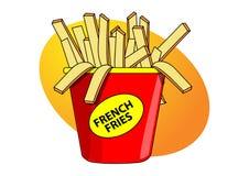 Patatas fritas libre illustration