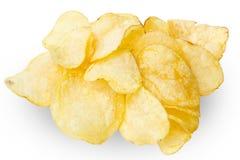 Patatas fritas aisladas en blanco foto de archivo libre de regalías
