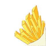 Patatas fritas aisladas en el vector blanco Fotografía de archivo