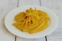 Patatas fritas, alimentos de preparación rápida Imagen de archivo libre de regalías