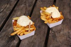 Patatas fritas belgas fotografía de archivo