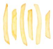 Patatas fritas Chips Isolated Imagenes de archivo