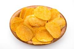 Patatas fritas con paprika fotos de archivo