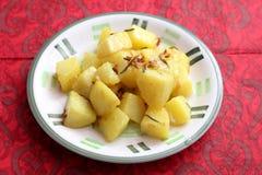 Patatas fritas con romero fotografía de archivo