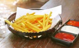 Patatas fritas de la patata Imágenes de archivo libres de regalías