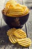Patatas fritas del corte de la arruga foto de archivo libre de regalías