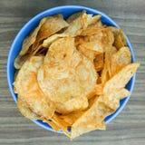 Patatas fritas del fondo Imagen de archivo libre de regalías