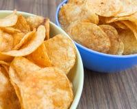 Patatas fritas del fondo Foto de archivo libre de regalías