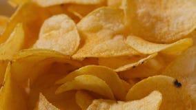 Patatas fritas del primer que giran la cantidad loopable almacen de metraje de vídeo