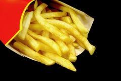 Patatas fritas en rectángulo Foto de archivo