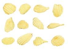 Patatas fritas fijadas Imágenes de archivo libres de regalías
