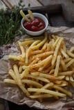 Patatas fritas, patatas fritas, sistema de los alimentos de preparación rápida Imagenes de archivo