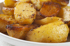 Patatas griegas de la carne asada Imagen de archivo libre de regalías