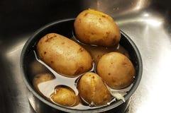 Patatas hervidas Imágenes de archivo libres de regalías