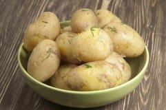 Patatas jovenes hervidas foto de archivo libre de regalías