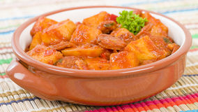 Patatas a la Riojana Royalty Free Stock Photography