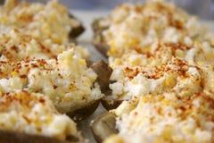 patatas Re-cocidas al horno Fotos de archivo