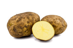 Patatas sin procesar Imágenes de archivo libres de regalías