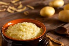 Patatas trituradas Imagenes de archivo