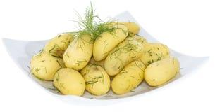 Patate bollite (su bianco) Immagine Stock