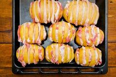 Patate del bacon fotografia stock libera da diritti