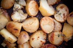 Patate dell'arrosto con timo Fotografia Stock Libera da Diritti