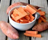 Patate dolci organiche Fotografia Stock