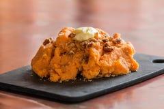 Patate dolci schiacciate Fotografie Stock