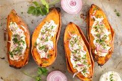 Patate douce cuite au four photographie stock libre de droits