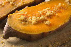 Patate douce et sucre roux Image stock