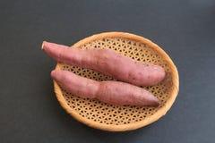 Patate douce, 2 morceaux Image libre de droits