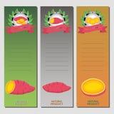 Patate douce rouge végétale entière Photo stock
