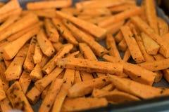 Patate douce saine, fritures cuites au four Images libres de droits