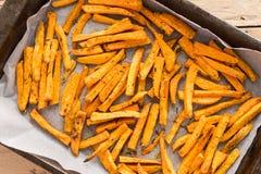 Patate douce saine, fritures cuites au four Photos libres de droits