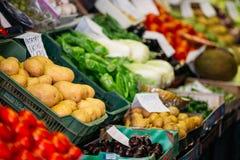 Patate ed altri prodotti agricoli del locale Fotografia Stock Libera da Diritti