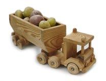 Patate fortunate del camion di legno del giocattolo Fotografia Stock