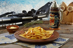 Patate fritte στο baita tirolese Στοκ φωτογραφία με δικαίωμα ελεύθερης χρήσης
