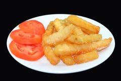 Patate fritte in bianco e nero Fotografia Stock