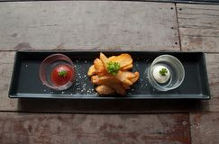 Patate fritte casalinghe Immagine Stock