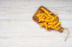 Patate fritte con lo spazio della copia Fotografia Stock