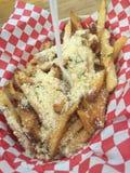 Patate fritte del parmigiano Fotografie Stock Libere da Diritti