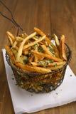Patate fritte del taglio della casa Fotografie Stock
