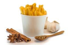 Patate fritte e heab Fotografie Stock Libere da Diritti