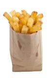 Patate fritte isolate Fotografia Stock Libera da Diritti