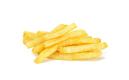 Patate fritte isolate sui precedenti bianchi Fotografia Stock