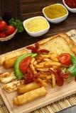 Patate fritte miste e Sigara Boregi Fotografia Stock