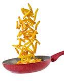 Patate fritte nella padella Stock Image