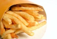 Patate fritte o patatine fritte degli alimenti a rapida preparazione immagine stock