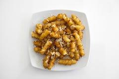 Patate fritte su fondo bianco Immagini Stock Libere da Diritti